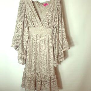 Betsy Johnson lace babydoll dress.